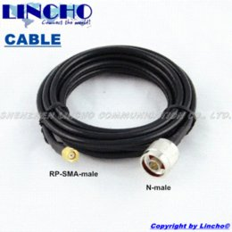 Wholesale 3 meters rg58 rf antenna extension cable N Male to RP SMA Male Connectors to connect wifi router with big G Antenna