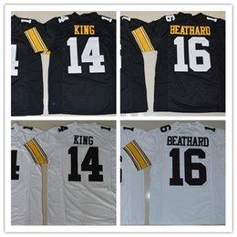 Wholesale 2016 New Style Stitched Jersey New Iowa Hawkeyes Desmond King C J Beathard Black White College Football Jersey