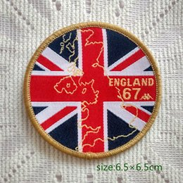 Wholesale UK British National Flag Map England Sew On Patch Shirt Trousers Vest Coat Skirt Bag Kids Gift Baby Decoration