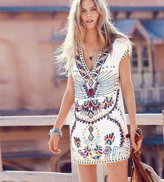 Wholesale Summer Casual Bodycon Work Denim Easy Fashion Trend V Lead Sexy Mini Maxi Beach Dress Long Sleeves Clothing Ladies Dresses