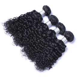 8A Quality Brazilian Jerry Curly Unprocessed Human Hair Extensions 8-30inch Natural Black Color Thick Full Dyeable 4pc lot Free Shipping DHL
