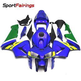 Motos sportives carénage en Ligne-Kit de carrosserie vélo sport pour Honda CBR600 CBR600RR F5 05-06 2005 2006 Kits de carrosserie de motocyclette Plein couvertures Green Blue Injection ABS Plastics