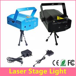 Mini Laser Stage Lighting 150mW Mini Green&Red Laser DJ Party Stage Light Black Disco Dance Floor Lights