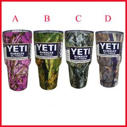 Wholesale Christmas Gift For OZ YETI Tumbler Rambler Printing Yeti Cups Stainless Steel Tumbler Mugs Travel Vehicle Beer YETI Mugs DHL Ship