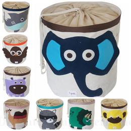 Wholesale Ins Toys Bin Organizer Bedroom Ins Laundry Basket Bag Baby Clothes Storage Box Foldable Hamper Closet Waterproof Drawstring Storage Bags D71