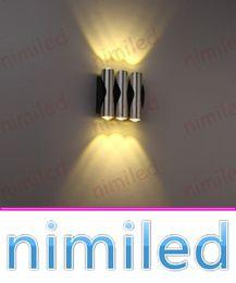 Wholesale nimi985 W W W moderne Creative LED Aluminum Craft Wall Lamp Chambre cylindrique Salon KTV TV fond Décoration Lumières éclairage