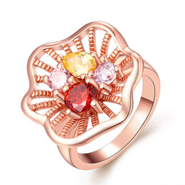 Lemon Shape Hollow Lotus Style Stars Love Moon Jewelry Flower ring Christmas gift for friends on Wholesale