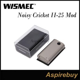 Wholesale Wismec Noisy Cricket II Upgraded Box Mod Replaceable Dual Batteries Direct Output Constant Voltage Output Mode Authentic