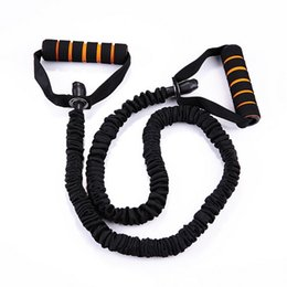 120cm Yoga Pull Rope Elastic Rope Fitness Resistance Bands Excercise Equipment Workout Gym Practical Training Elastic Band Rope MD0038