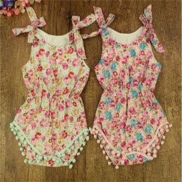 New Posh Kids Clothes ,newborn baby girls pom pom outfit, Floral Infant Baby One-piece Romper ,Floral Toddler Girls Clothing