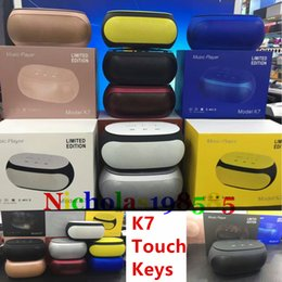 Wholesale K7 Touch Keys NFC Best Stereo Subwoofer Mini Protable Bluetooth Wireless Speakers Mini Speakers TF Card U disk MP3 Player VS K1 K3 K5 K8 K9