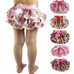 Baby Bloomers Girls Pettiskirt TUTU underwear Panties Toddle Kids Underpants infant newborn ruffled satin PP pants Kids Cloth 19 color K405