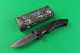 Drop shipping Strider Mick FA14 Flipper folding knife 440C 57HRC Titanium Finish blade Steel Imitation carbon fiber color Handle knives