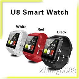 U8 Bluetooth Smart Watch Support Touch Screen Watches Connection Health Smartwatches Retail Package For Android DZ09 Free Shippping