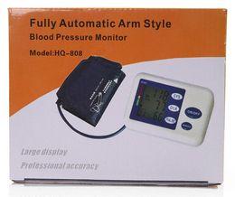 2014 Professional Lcd Digital Memory Arm Blood Pressure Monitor Heart Beat Meter Health care Sphygmomanometer monitor parking