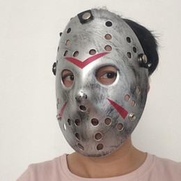 HOT Sale Jason Mask Antique Silver Cosplay Party Masks Jason Voorhees Freddy Hockey Festival Halloween Masquerade Mask