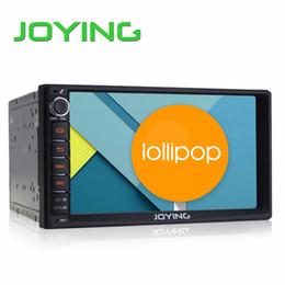 Wholesale car DVD Joying Double Din Android Lollipop Universal Car Radio Quad Core HD Car GPS Navigation Best Head Unit Car PC
