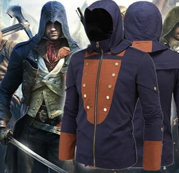 Top sales men Assassin's Creed costumes Jacket fashion Mission cosplay Hoodies Movie The Avengers superhero roleplay Theme costume