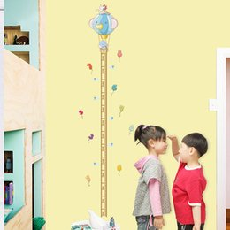 Wholesale Removable Baby Kid Room Decor Elephont Height Ruler Measure Chart Wall Sticker Decal Paper For Kids Bedroom Play room Mural
