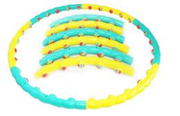 Wholesale 6 parts fitness removable hula hoop Rainbow ball massage hula hoop lose weight hula hoop