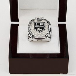 Wholesale WITH WOOD BOX National Hockey League LOS ANGELES KING STANLEY CUP D Design High Quality Replica CHAMPIONSHIP RING STR0