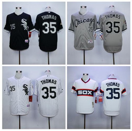 Wholesale Chicago White Sox Frank Thomas Throwback Jersey white M N Embroidery Newest Baseball Jerseys Best