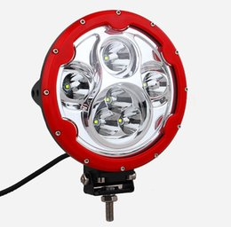 Free shipping 2pcs 7 inch Round 60W LED Spot Work Light CREE 10W x 6 LEDs 10-30V Spotlight Car 4WD SUV ATV Boat 4x4 Driving Headlight
