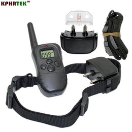 Wholesale 100 Level Vibration and Shock Rechargeable and Waterproff training dog collar with LCD display With Two Collar Receiver DR2