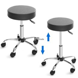 Wholesale Bar Stool Chair with Dual Wheel Height Adjustable Rolling Swivel