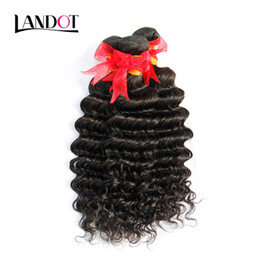 Brazilian Deep Wave Curly Virgin Human Hair Weaves Bundles Unprocessed Peruvian Malaysian Indian Mongolian Cambodian Curly Hair Extensions