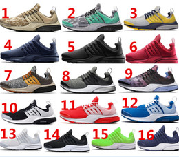Wholesale 2016 Hot sell real logo Air Presto Mesh running shoes GPX Khaki Digital Camo Sock Dart Air Presto SE QS women and mens fashion shoes