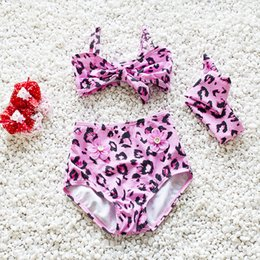 Wholesale Children S Clothing For Girls - summer cute baby girls fashion leopard swimsuit bath suit baby children kids summer swimwear cute clothes for children