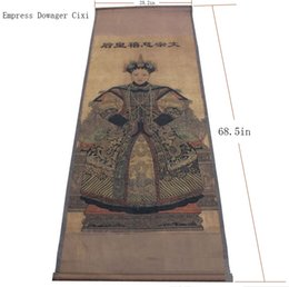 Wholesale Antique antique calligraphy and painting Chinese painting Chudo office living room paintings framed the Empress Dowager Ci Xi