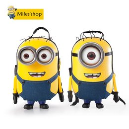 Wholesale christmas presents Minions D laughter Messenger kids school bags for teenagers cute bookbags anime book bag children schoolbag backpacks