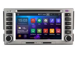 Promotion tuner audio vidéo Nouveau Quad Core Android 4.4.4 Lecteur DVD CAR pour HYUNDAI SANTA FE (2007-2011) voiture audio stéréo Multimédia Navigation GPS lien miroir OBD2 carte