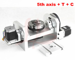 Wholesale 4th aixs th axis A aixs rotation axis with chuck with table for cnc cutting engraver
