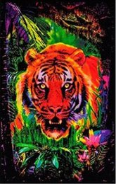 Wholesale 24X36 INCH ART SILK POSTER Opticz Jungle Tiger Blacklight Reactive Poster Game Poster Movie Poster Print