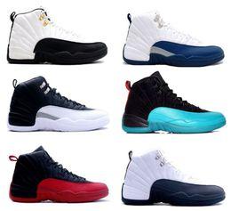 Wholesale 2016 zapatos retro del aire de China jordan zapatos de baloncesto de los hombres TAXI Juego de la gripe gamma Playoffs azules obsdn Flint francesa azul rojo del equipo universitario onlin
