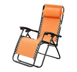 Wholesale New Zero Gravity Folding Recliner Outdoor Lounge Patio Pool Chair Orange