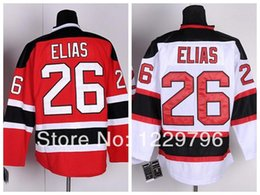 Patch patch bon marché en Ligne-Livraison gratuite New Jersey Devils Hockey Jerseys 26 Patrik Elias Jersey Red White Jerseys Chine Un patch pas cher