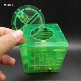 Green Money Maze Bank 3D Puzzle Game Saving Coin Collectibles Case Box Kids Gift