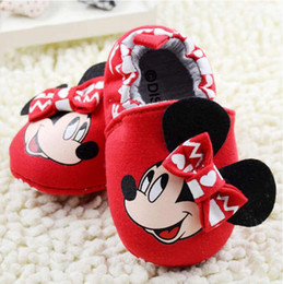 Baby first walkers shoes baby sport shoes cotton shoes cartoon minnie shoes color red size 11-13cm 2016 kids shoes children shoes.2375