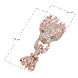 Brass Fold Over Clasp Dragon Plated Micro Pave Cubic Zircon More Colors For Choice Nickel Lead & Cadmium Free 16x37mm 3 PCS   Lot