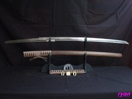 Wholesale japanese handforged katana samurai sword hualee saya can cut bamboo