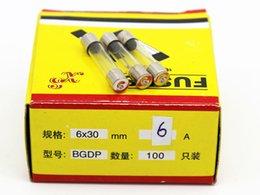 100pcs lot 6A 6*30MM Fuses Fast Quick Blow Glass Tube Fuse 6x30mm 250V 6A F6AL250V