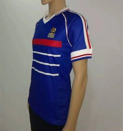 Wholesale 1998 World Cup champion France Soccer Jersey Zidane France Henry Top Thai quality