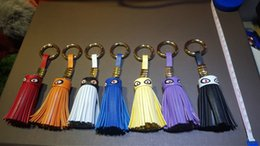 Wholesale Little Monster fringed bag ornaments key ring keychain spoof Lafayette trade tassels hanging paragraph shall