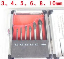 6 PCS set glass ceramic tile hole opener Glass drill bits Ceramic tile bit 001
