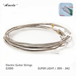 1 Sets AMOLA Electric Guitar Strings Original E2000 E2002 E2050 E2052 E2077 E2102 Steel Guitar Strings Guitar Accessories
