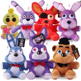 7 style New Cartoon Five Nights at Freddy's plush toys Bonnie Foxy Freddy Chica Fazbear FNAF Stuffed Animals 25cm with tag EMS C515